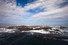 Rocas en la bahía de Hout Imagen de archivo libre de regalías