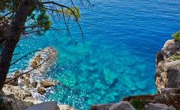 Rocas en la costa Fotografía de archivo libre de regalías