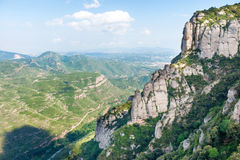 Rocas en la montaña de Montserrat Fotos de archivo