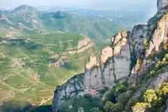 Rocas en la montaña de Montserrat Imagenes de archivo