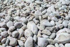 Rocas en la playa croata, mar adriático, Foto de archivo