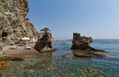 Rocas en la playa en el hotel Imagen de archivo