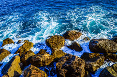 Rocas en Mónaco Foto de archivo libre de regalías