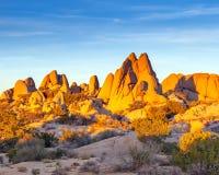 Rocas en parque nacional del árbol de Joshua Fotos de archivo