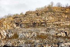 Rocas en piedra arenisca de la mina Imágenes de archivo libres de regalías