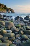 Rocas en San Juan de Gaztelugatxe Fotografía de archivo