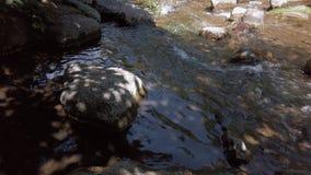 Rocas en un río fluído almacen de metraje de vídeo