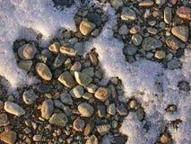 Rocas escarchadas Fotografía de archivo libre de regalías