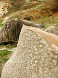 Rocas extrañas en Rumania imagen de archivo