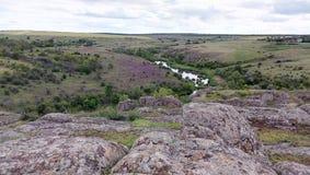 Rocas grandes del gran barranco Imagen de archivo