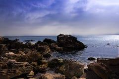 Rocas hermosas en Balchik, Bulgaria Imagen de archivo libre de regalías