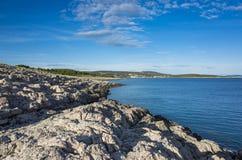 Rocas hermosas en el mar adriático en Croacia Europa Fotos de archivo libres de regalías