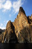 Rocas Las rocas en la orilla del Mar Negro, Crimea
