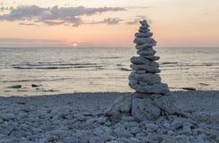 Rocas llenadas en uno a Imagen de archivo libre de regalías