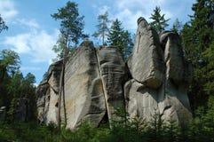 Rocas nacionales de Adrspach-Teplice de la reserva de naturaleza Fotos de archivo libres de regalías