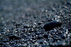 Rocas negras Foto de archivo libre de regalías