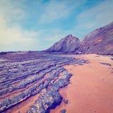 Rocas negras Foto de archivo