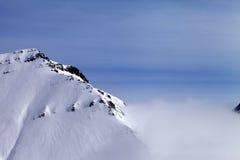 Rocas Nevado en niebla Fotografía de archivo