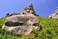 Rocas, paisaje, Tustan Imagen de archivo
