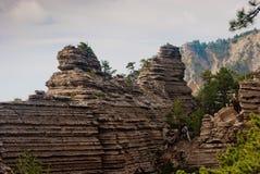 Rocas pintorescas Foto de archivo libre de regalías