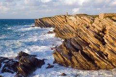 Rocas por el mar Fotos de archivo