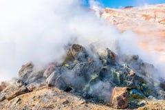 Rocas que fuman Fotografía de archivo libre de regalías