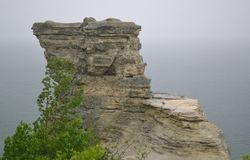 Rocas representadas Fotografía de archivo libre de regalías