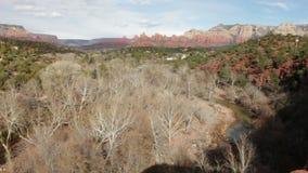 Rocas rojas de Sedona almacen de video