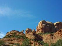 Rocas rojas de Sedona del top del camino de aeropuerto Imagenes de archivo