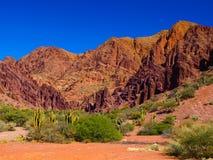 Rocas rojas de Tupiza Foto de archivo