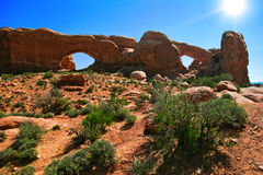 Rocas rojas de Utah Imágenes de archivo libres de regalías