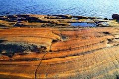 Rocas rojas del mar blanco Fotografía de archivo libre de regalías