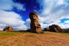 Rocas rojas en Alto Tajo fotos de archivo