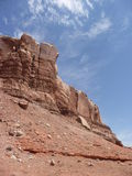 Rocas rojas imponentes Fotografía de archivo