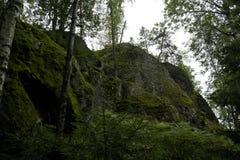 Rocas verdes de musgo fotografía de archivo libre de regalías