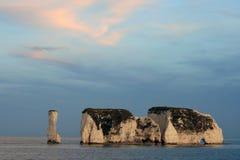 Rocas viejas de Harry, Swanage fotografía de archivo libre de regalías