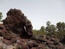 Rocas volcánicas en Tenerife Fotografía de archivo