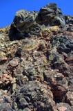 Rocas volcánicas, isla de Nea Kameni, Grecia Foto de archivo libre de regalías