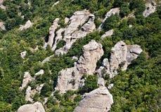Rocas y árboles Imagen de archivo