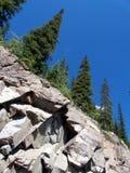 Rocas y árboles Fotografía de archivo libre de regalías