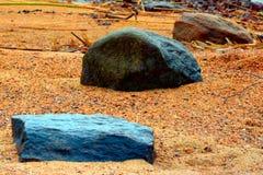 Rocas y arena Foto de archivo