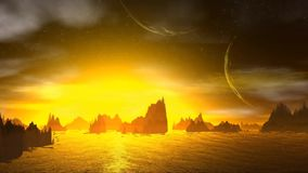 Rocas y cielo libre illustration