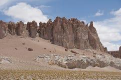 Rocas y desierto de la arena, Chile Foto de archivo