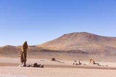 Rocas y desierto en reserva nacional de los flamencos del Los Imagenes de archivo