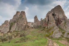 Rocas y Fortress'entrance, Bulgaria de Belogradchik Imágenes de archivo libres de regalías