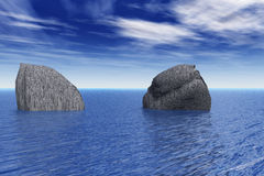 Rocas y mar Imagen de archivo libre de regalías