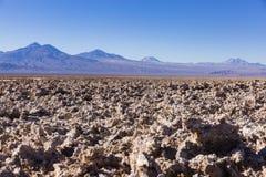 Rocas y montañas en reserva nacional de los flamencos del Los Imagenes de archivo