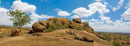 Rocas y paisaje del desierto en África fotografía de archivo