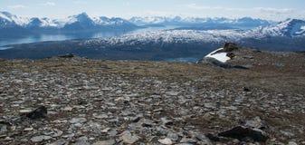Rocas y valle Foto de archivo libre de regalías