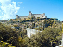 Rocca Albornoziana Spoleto Umbria Royalty Free Stock Photography